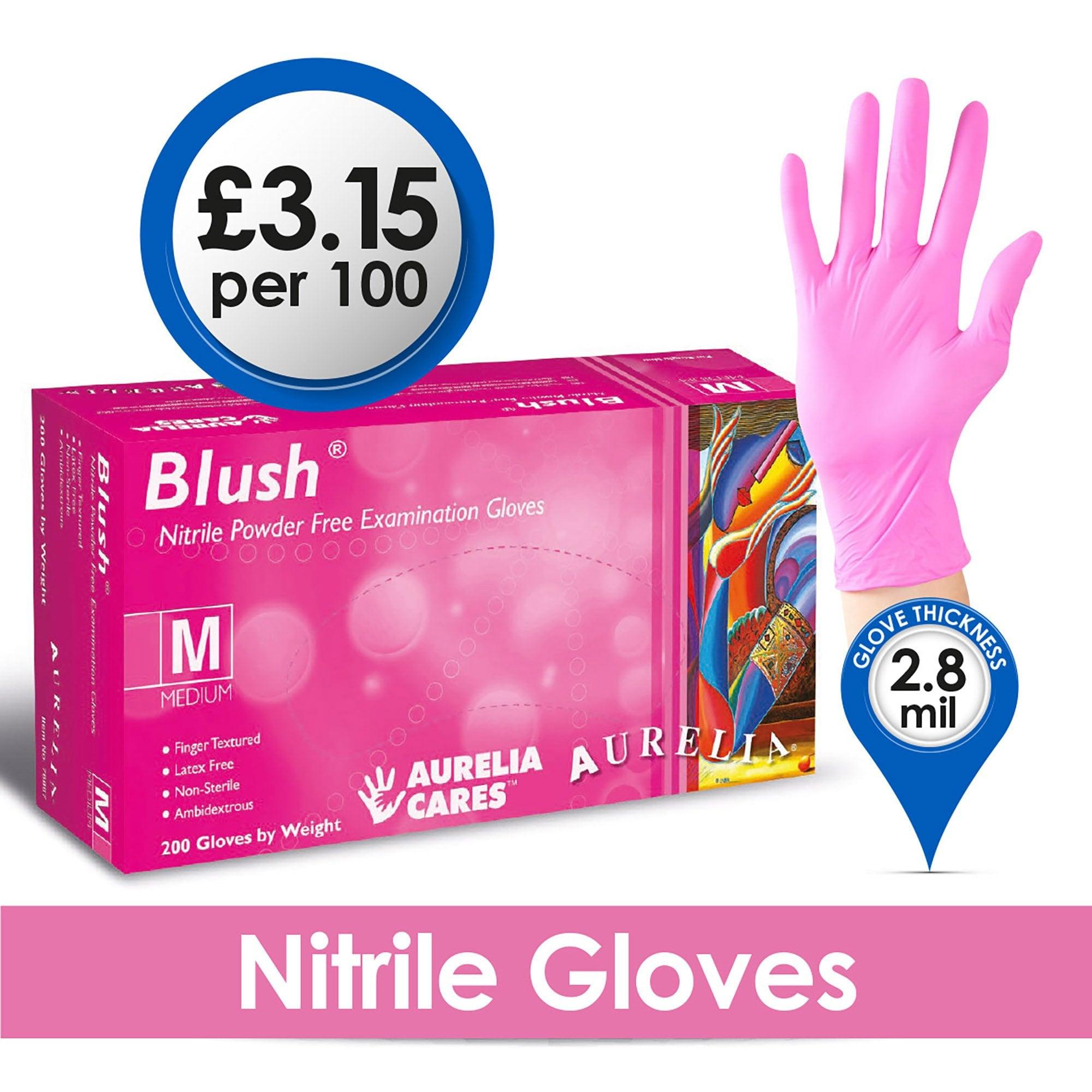 AQL 1.5 XL 100 Premium Nitrile Powder Free Disposable Gloves Purple Grade